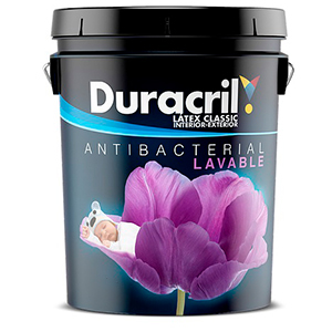 DURACRIL LATEX CLASIC I/E ANTIBACTERIAL 4 LTS