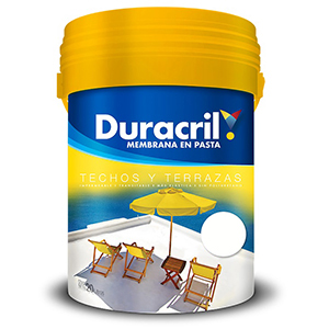 DURACRIL MEMBRANA PASTA ROJO TEJA 4 LTS